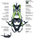 Miller Air Core Oil & Gas Derrick Harness w/Seat Sling