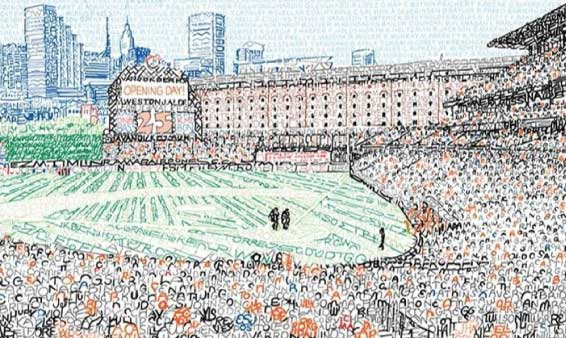 Baltimore Sun: How a Phillies fan transformed 1,046 Orioles names into Camden Yards art