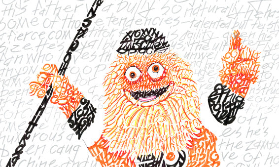 6ABC: Gritty gets the Philly Word Art treatment for early birthday gift