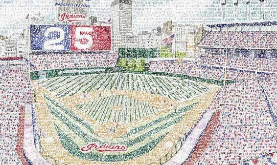 Cleveland.com: Progressive Field depicted in 'Art of Words'