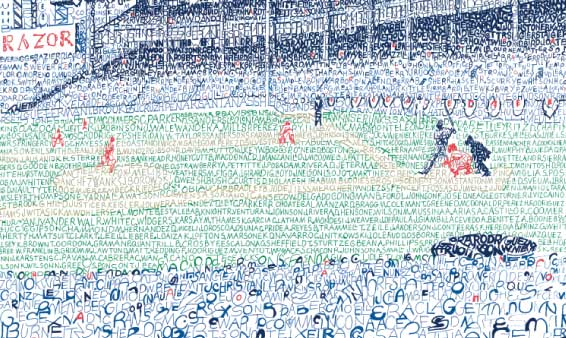 Daily News: Philly artist explains what made him draw old Yankee Stadium with names of every Bomber who played there
