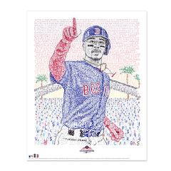 2018 Boston Red Sox Mookie Betts Word Art
