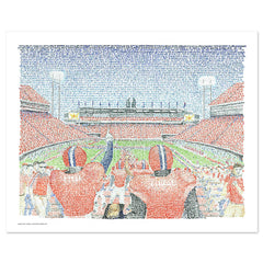 Clemson Memorial Stadium Word Art
