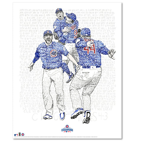 Chicago Cubs Word Art Print