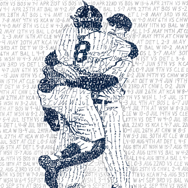 1956 Yankees Word Art Poster New York Yankees Gifts Decor Art Of Words