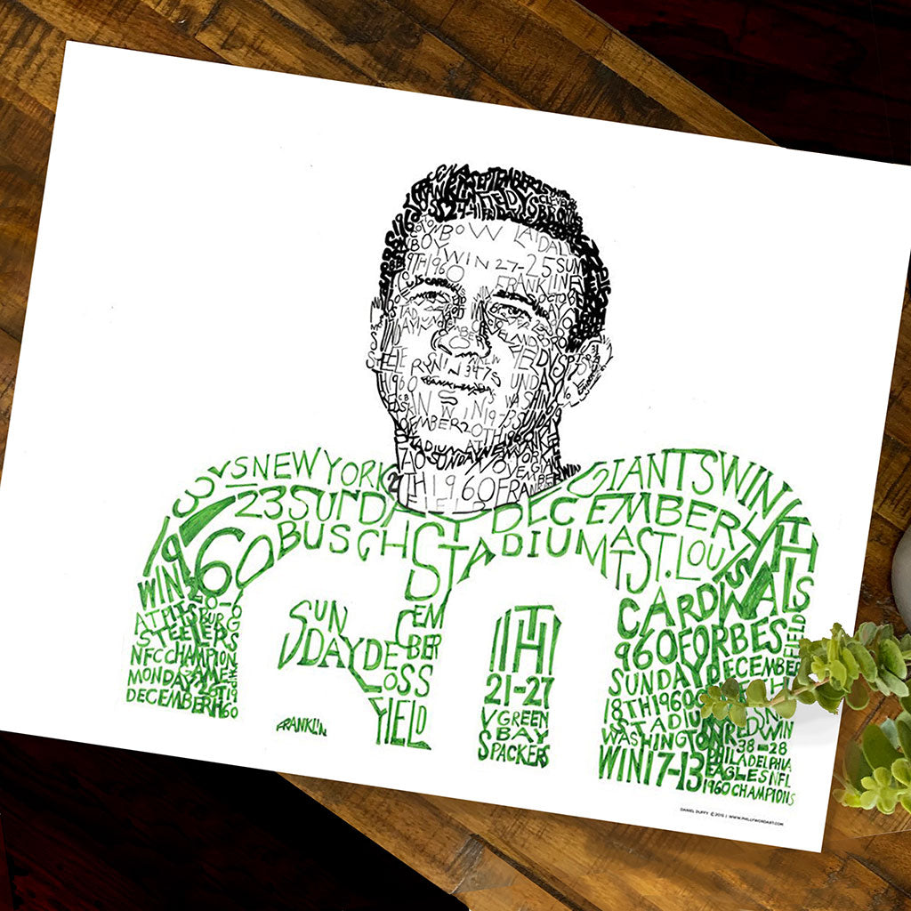 Philadelphia Eagles Chuck Bednarik Wall Art