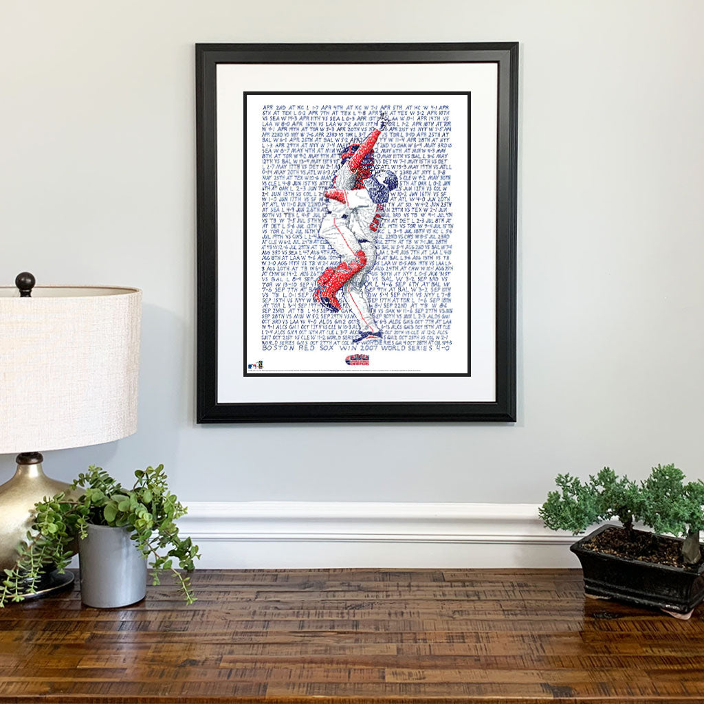 2007 Boston Red Sox Gift Framed