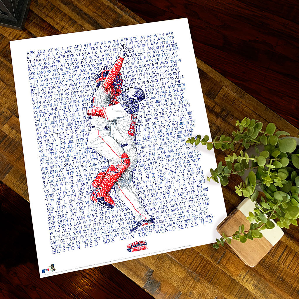 2007 Boston Red Sox World Series Word Art