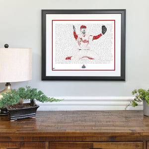 2008 Philadelphia Phillies Brad Lidge Gift Framed