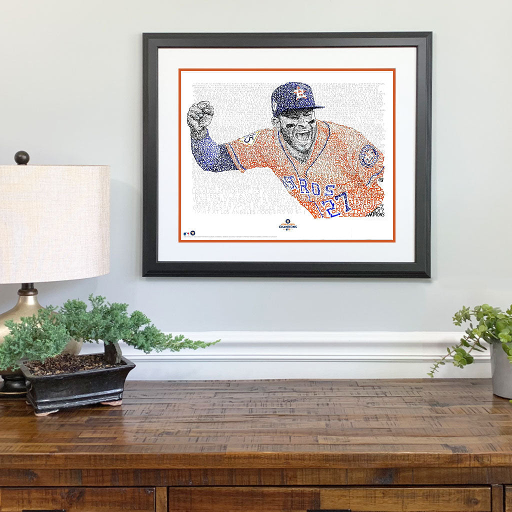 Houston Astros Jose Altuve Gift Framed