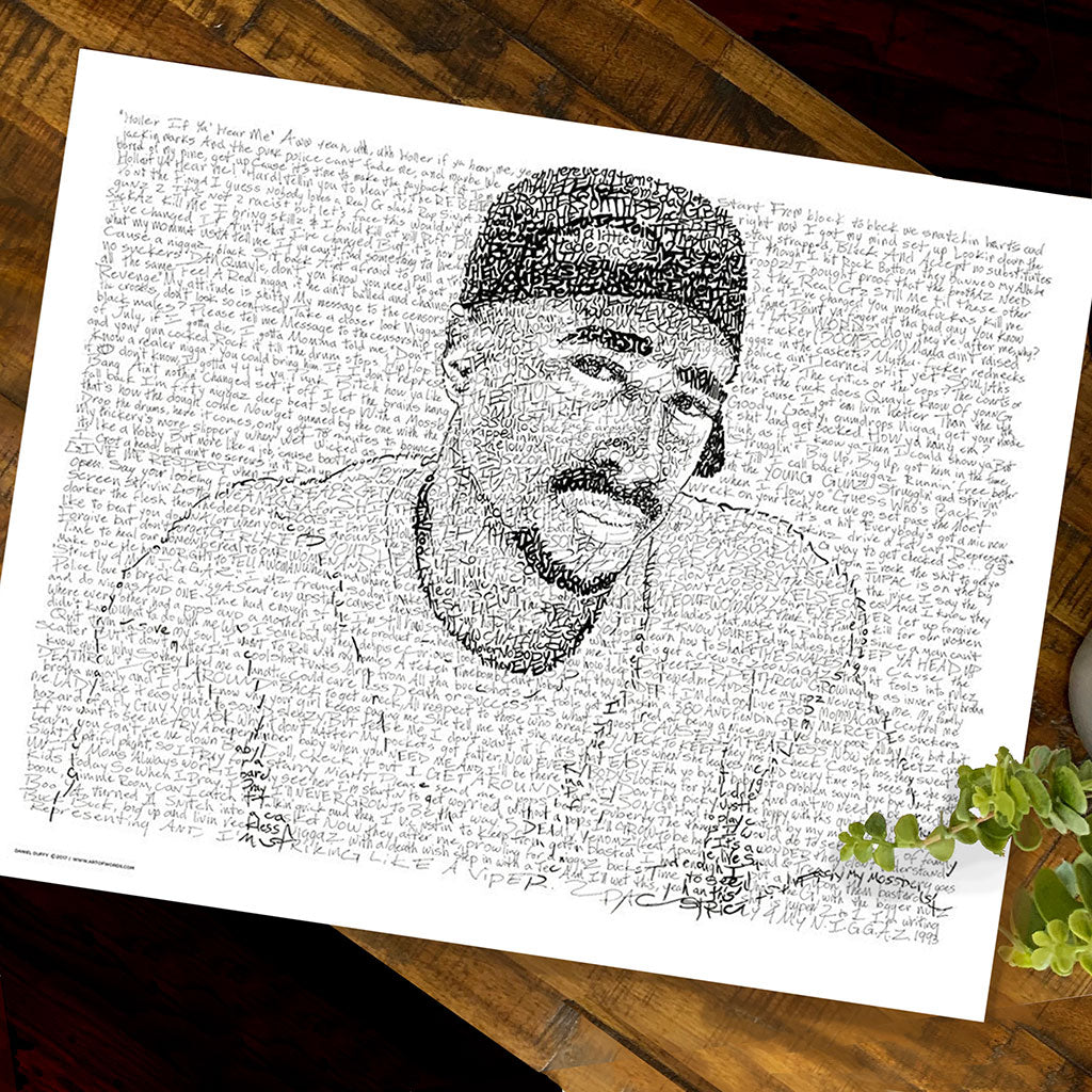 2Pac Word Art by Dan Duffy