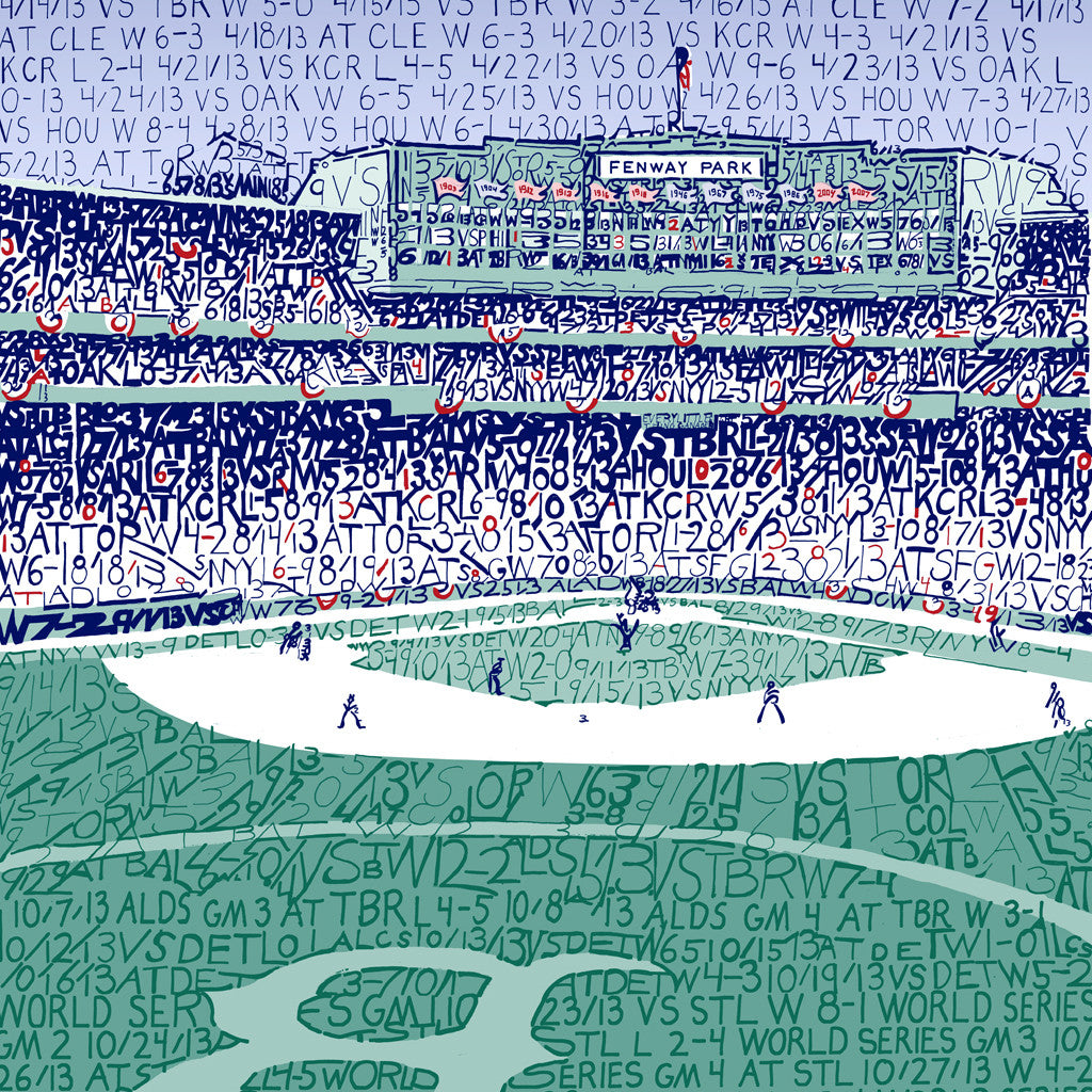 2013 Boston Red Sox Fenway Park World Series Wall Art