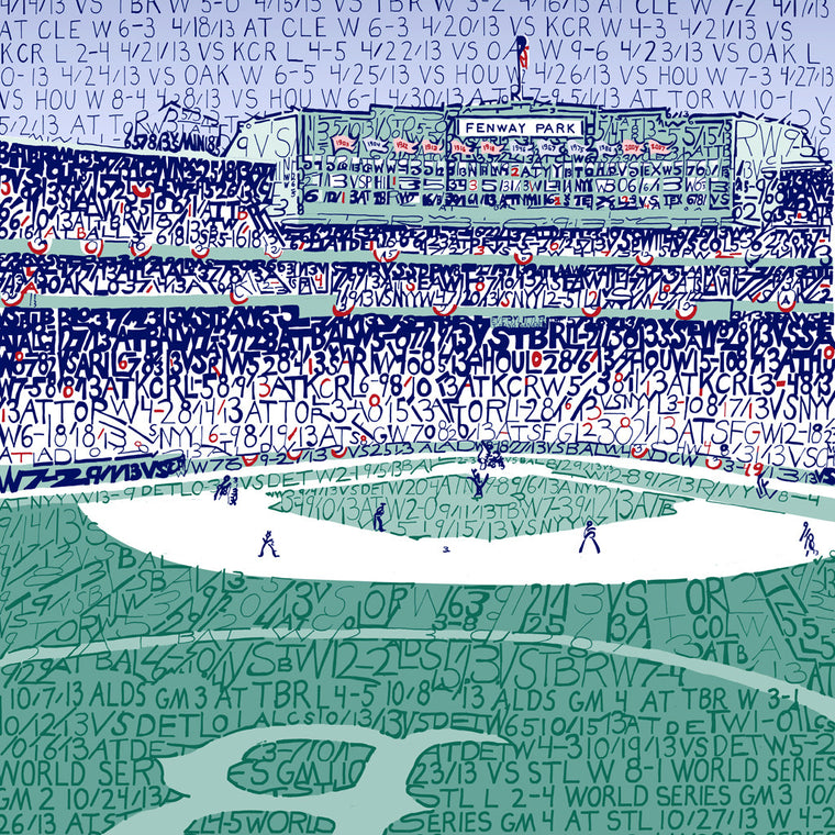 2013 Boston Red Sox Fenway Park World Series Word Art