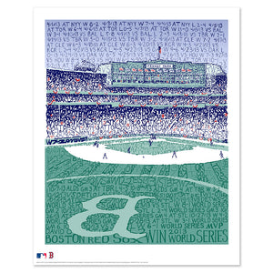 2013 Boston Red Sox Fenway Park World Series Poster