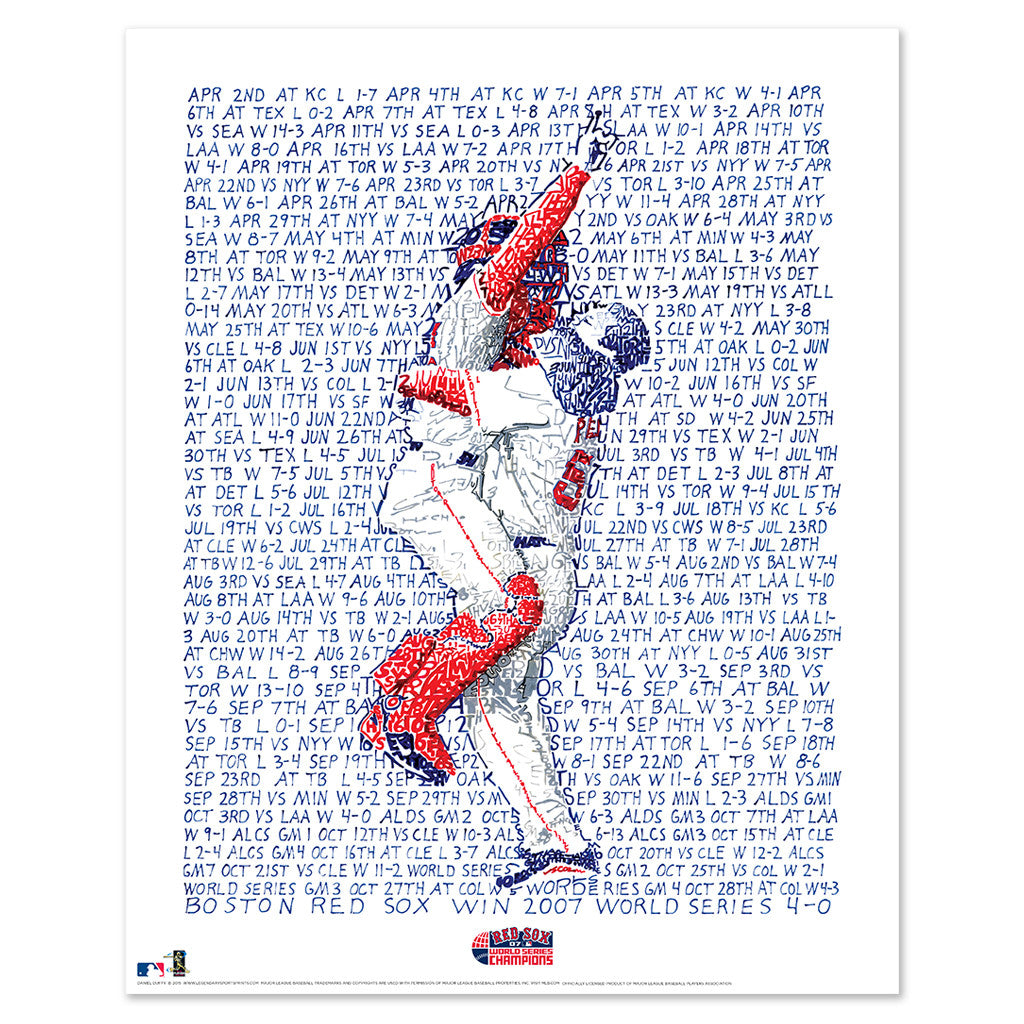 2007 Boston Red Sox World Series Wall Art