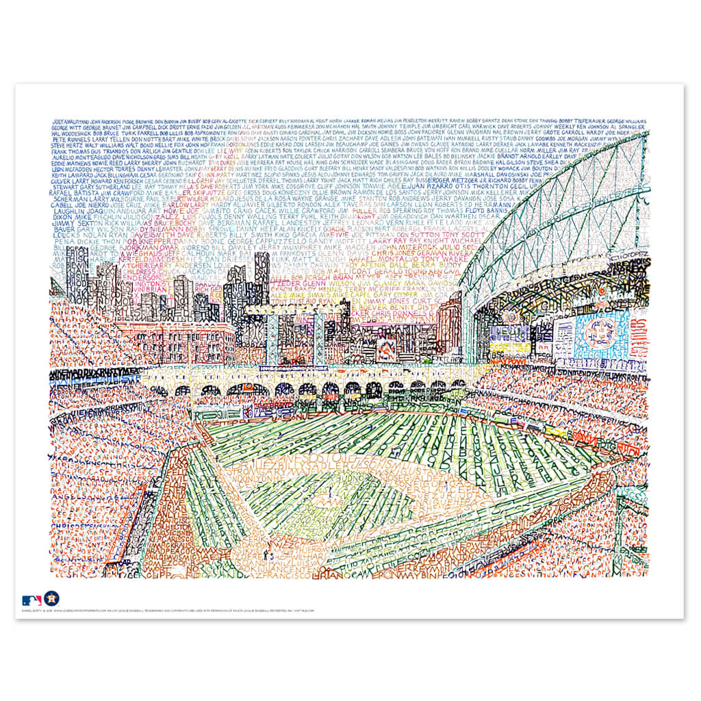 Houston Astros Minute Maid Park Poster Art by Dan Duffy