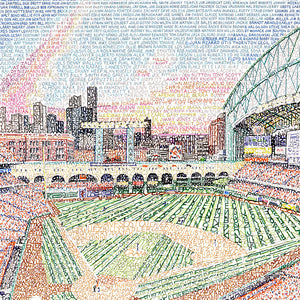 Houston Astros Minute Maid Park Word Art by Daniel Duffy