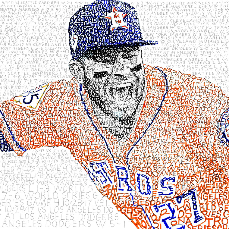Astros Word Art Poster