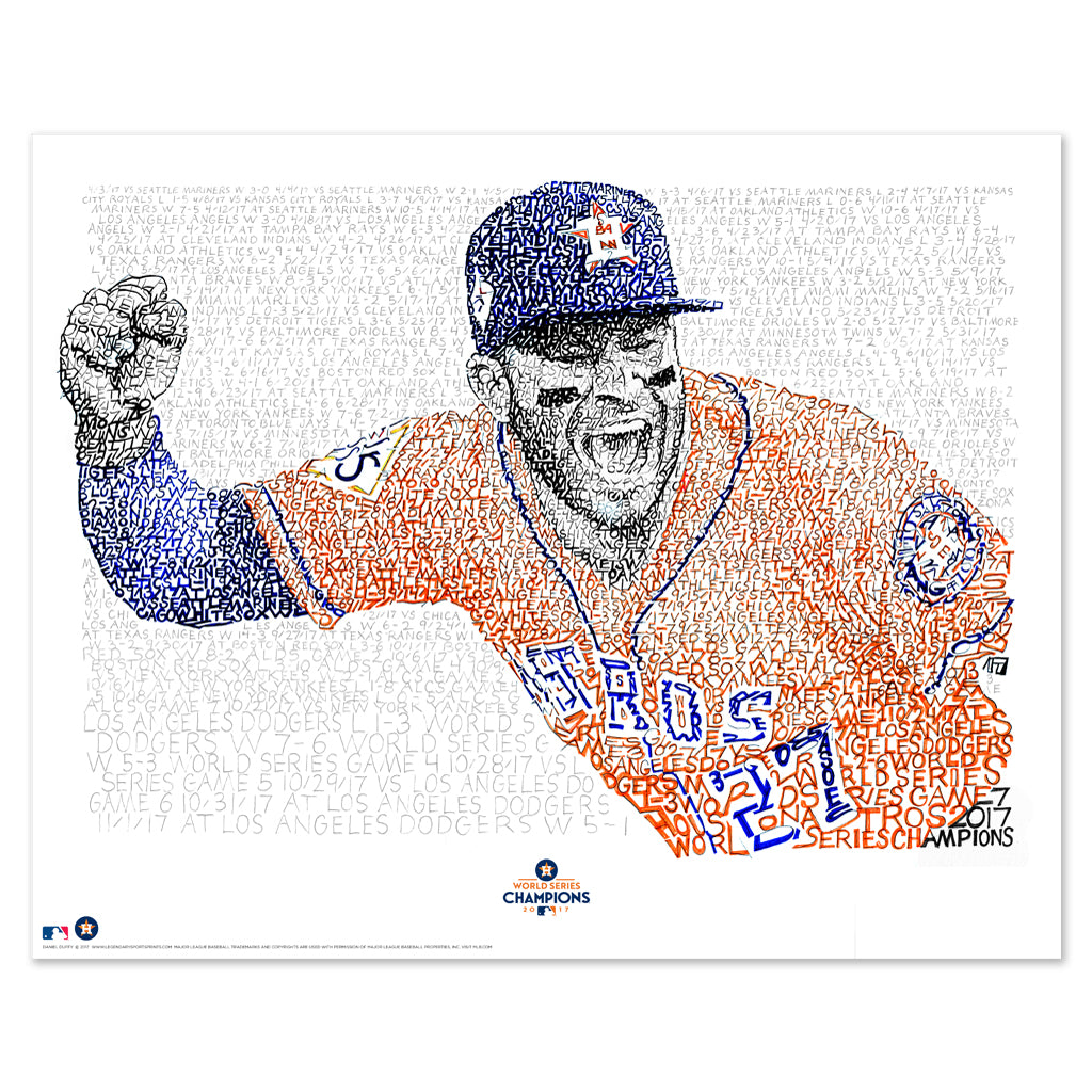 Jose Altuve Word Art Poster