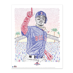 Boston Red Sox Mookie Betts Poster Art by Dan Duffy