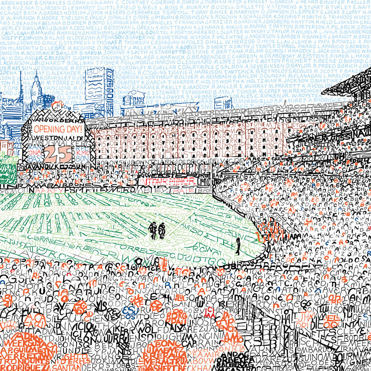 Baltimore Orioles Camden Yards Word Art