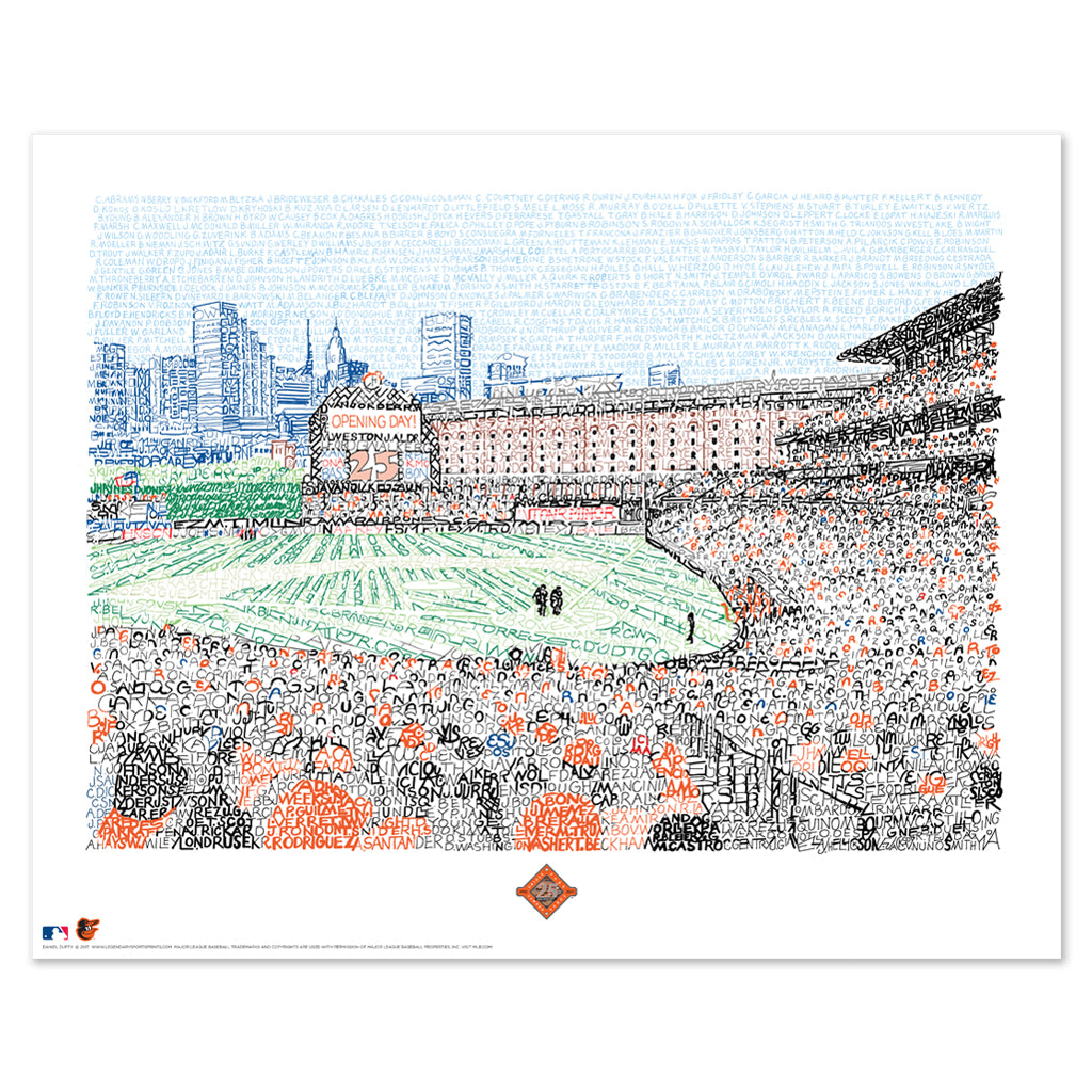 Camden Yards Word Art Poster