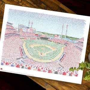 Cincinnati Reds Great American Ballpark Poster
