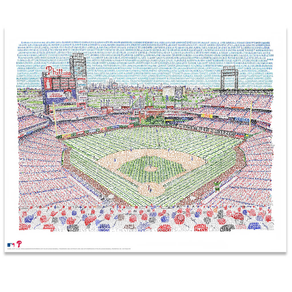 Philadelphia Phillies Citizens Bank Park Poster by Dan Duffy