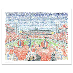 Clemson Tigers Memorial Stadium Word Art by Daniel Duffy