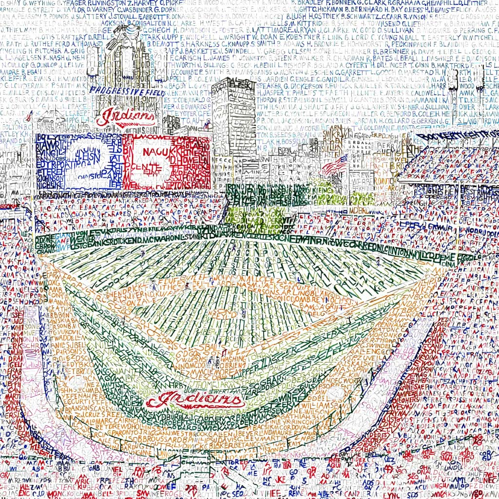 Cleveland Indians Progressive Field Poster