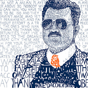 Mike Ditka Word Art by Dan Duffy