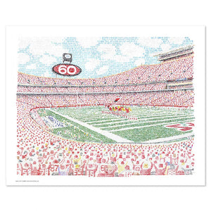 Kansas City Chiefs Arrowhead Stadium Poster