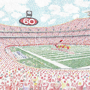 Kansas City Chiefs Arrowhead Stadium Word Art by Daniel Duffy