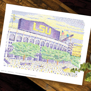 LSU Tiger Stadium Poster
