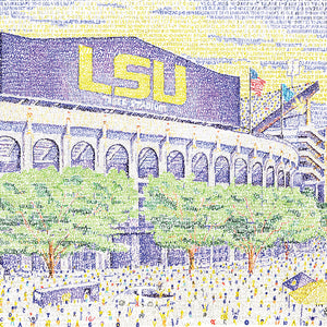 LSU Tiger Stadium Word Art by Daniel Duffy