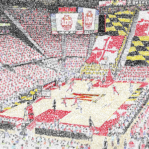 Maryland Basketball Xfinity Center Poster Art by Dan Duffy
