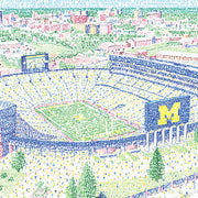Michigan Wolverine Stadium Word Art by Daniel Duffy