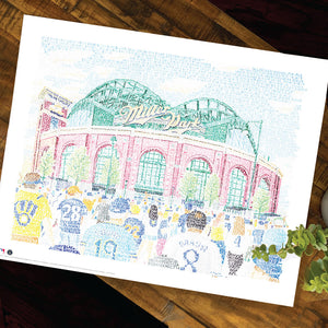 Milwaukee Brewers Miller Park Poster