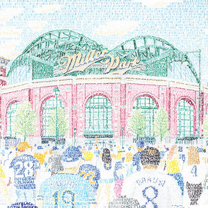 Milwaukee Brewers Miller Park Word Art by Daniel Duffy