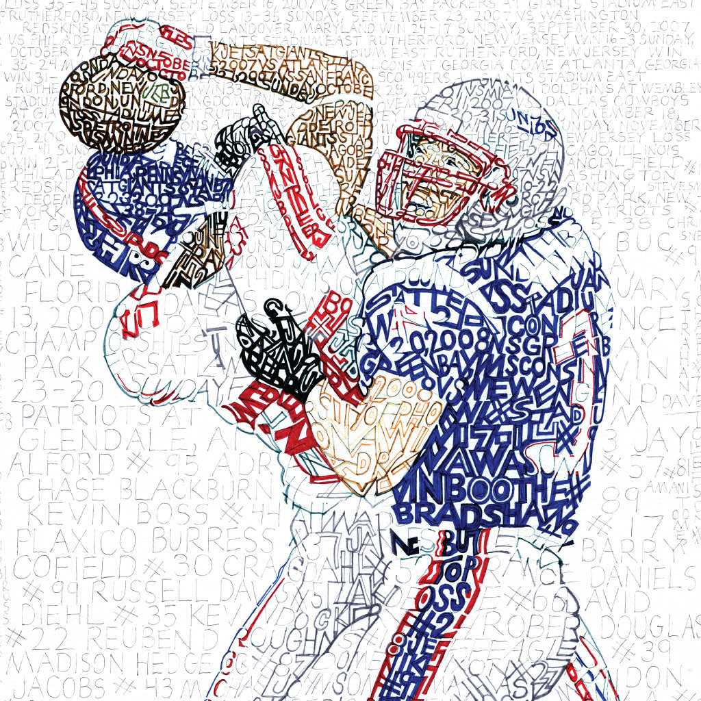 New York Giants 2007 Super Bowl Word Art by Daniel Duffy