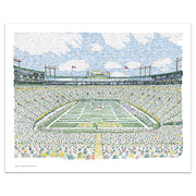 Green Bay Packers Lambeau Field Poster Art by Dan Duffy