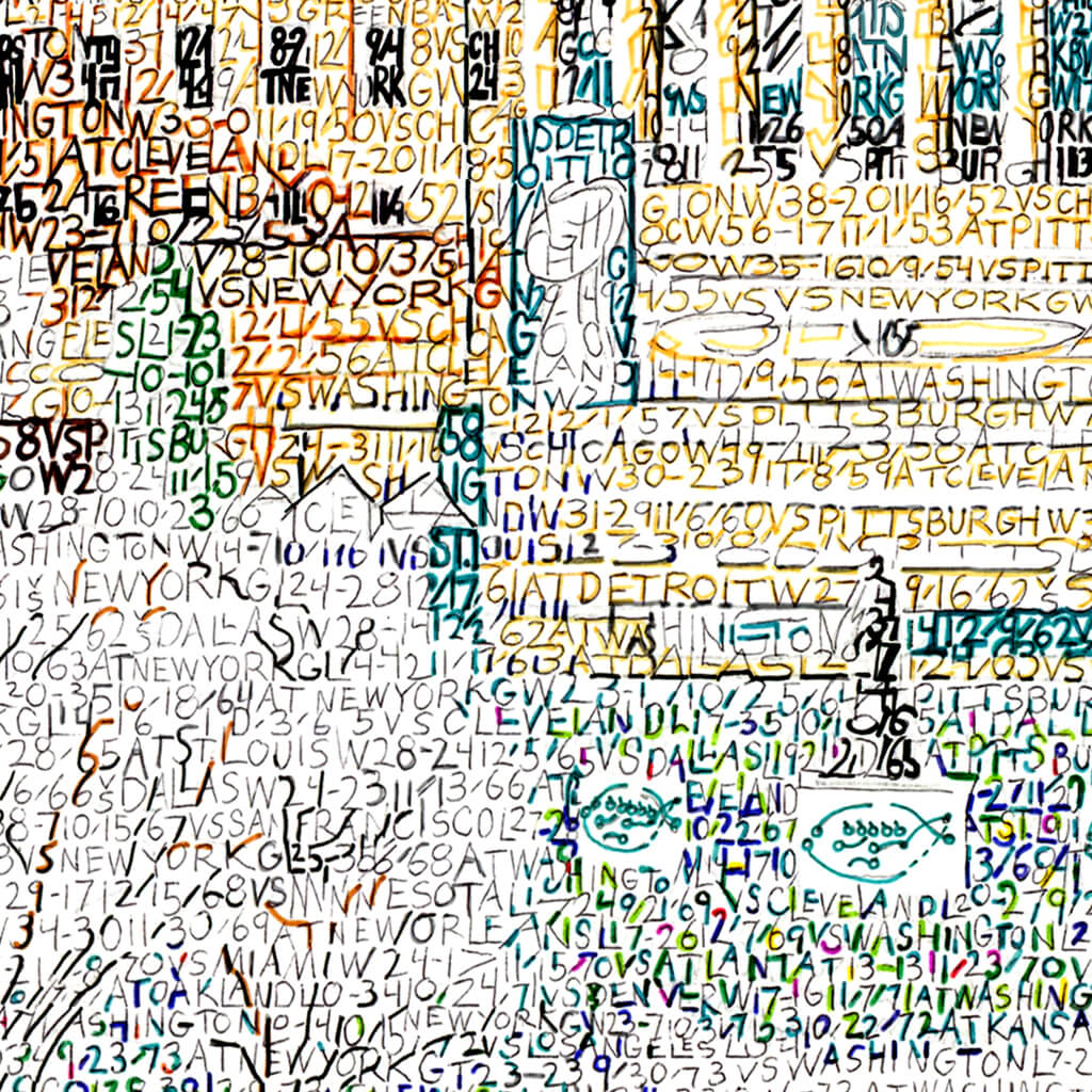 Philadelphia Eagles Parade Word Art Detail