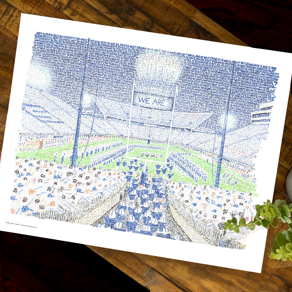 Penn State Beaver Stadium Word Art by Daniel Duffy