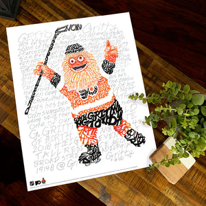 Philadelphia Flyers Gritty Poster