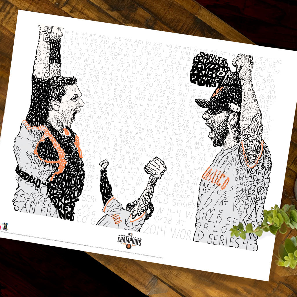 2014 San Francisco Giants World Series Wall Art