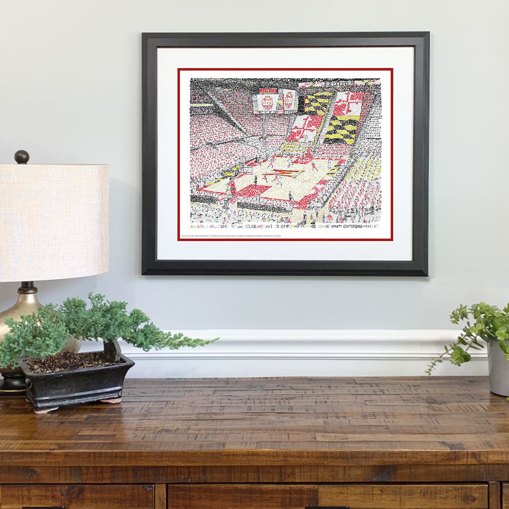 Maryland Basketball Gift Framed
