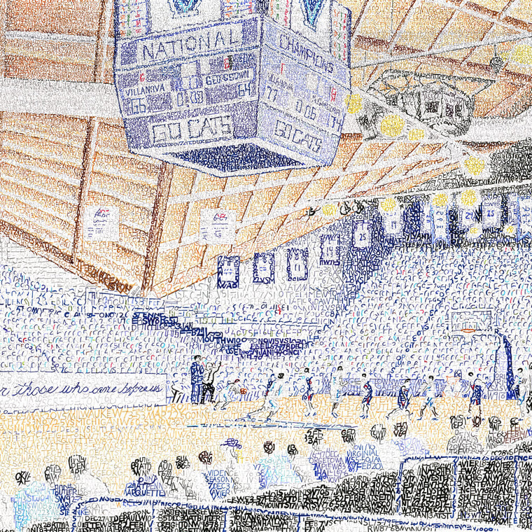 Villanova Wildcats Pavilion Word Art by Daniel Duffy