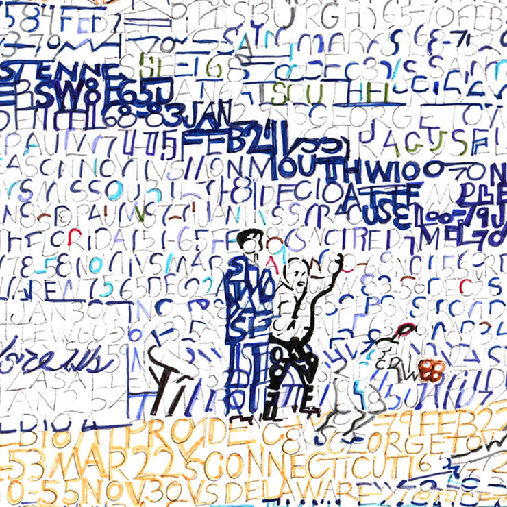 Villanova Wildcats Pavilion Word Art Detail