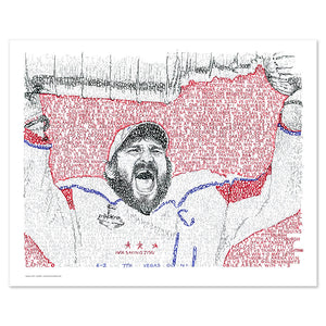 Alexander Ovechkin 2018 Stanley Cup Word Art by Dan Duffy