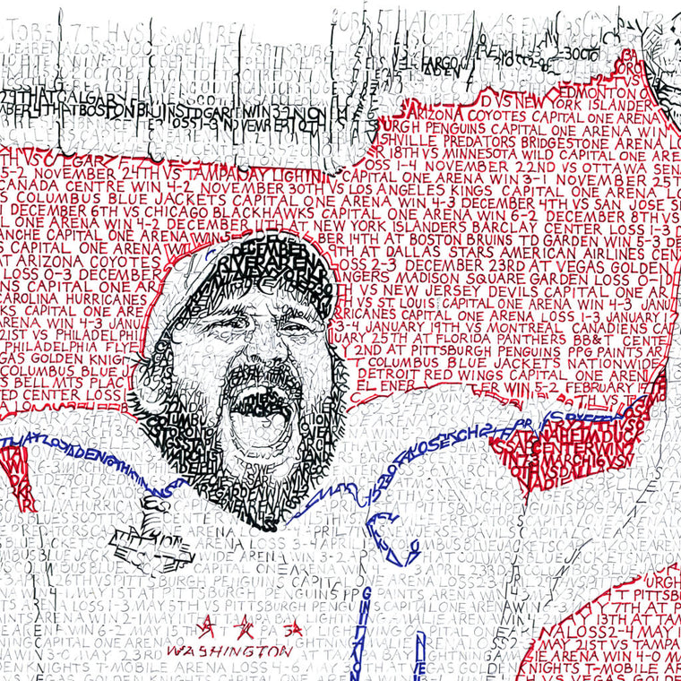 Washington Capitals 2018 Stanley Cup Poster